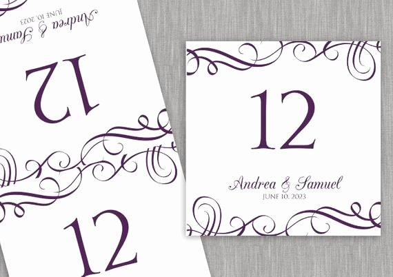 Wedding Table Number Template Best Of Wedding Table Number Card Template Download by Karmakweddings