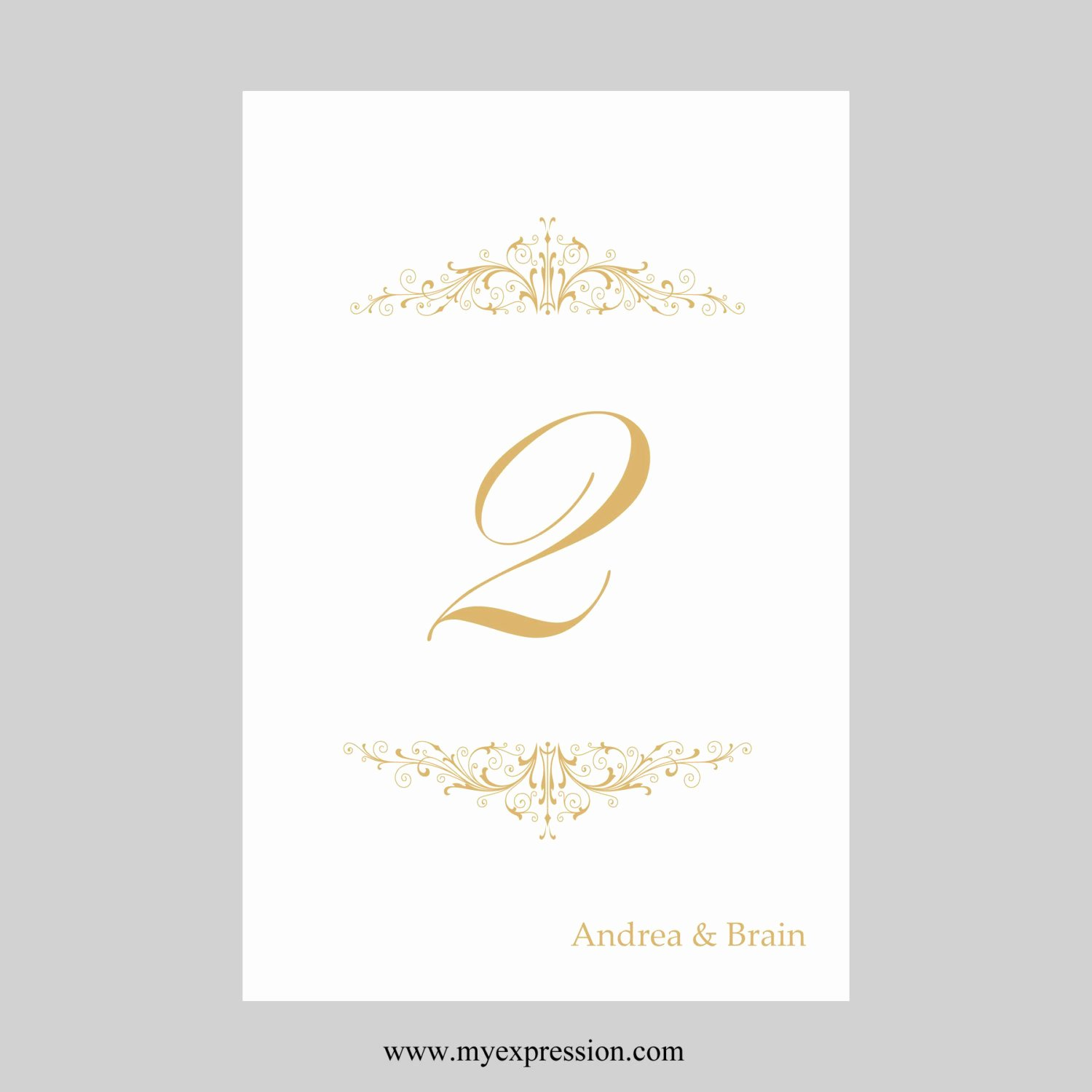 Wedding Table Number Template Elegant Wedding Table Number Card Template 4x6 Flat Vintage