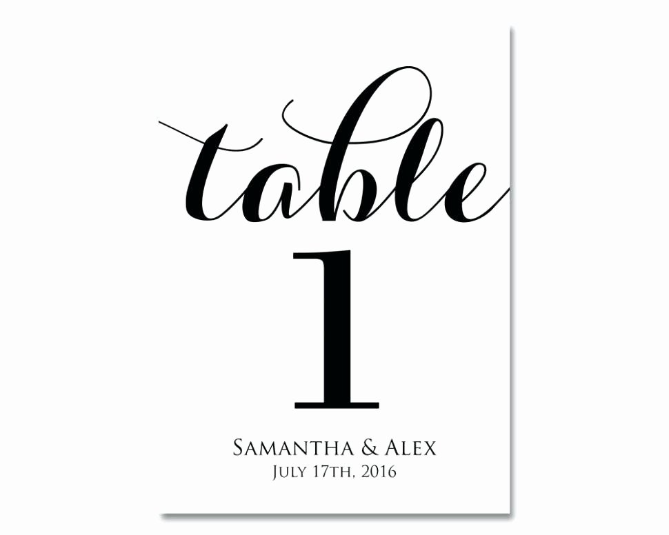 Wedding Table Number Template Fresh Free Printable Table Numbers – Rileywranglers
