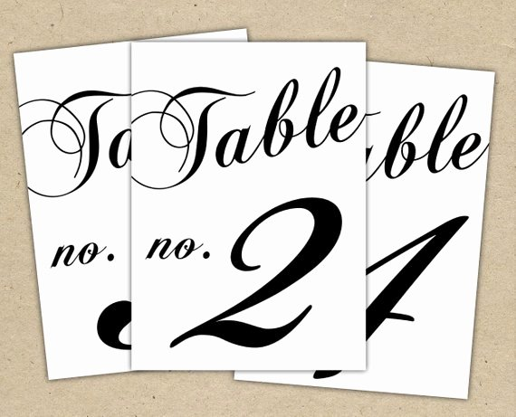 Wedding Table Number Template Inspirational Black Table Numbers Printable Template Instant Download