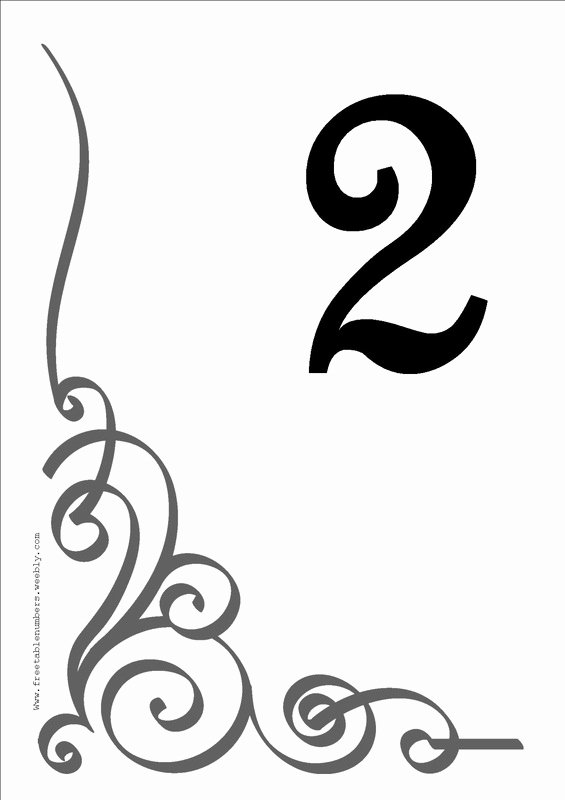 Wedding Table Number Template Inspirational Free Flourish Printable Diy Table Numbers Free Table Numbers