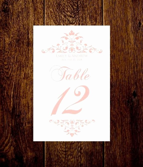 Wedding Table Number Template Inspirational Wedding Table Numbers Printable Template by Pixelromance4ever