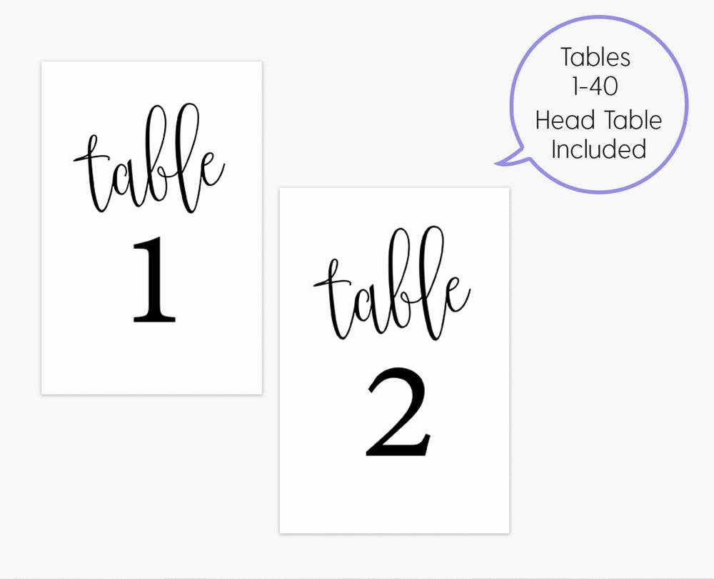 Wedding Table Number Template Lovely Free Printable Table Numbers Template