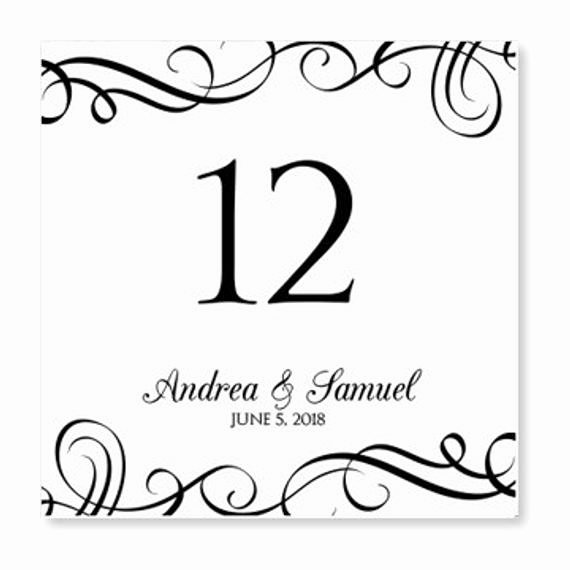 Wedding Table Number Template Lovely Instant Download Wedding Table Number Card by