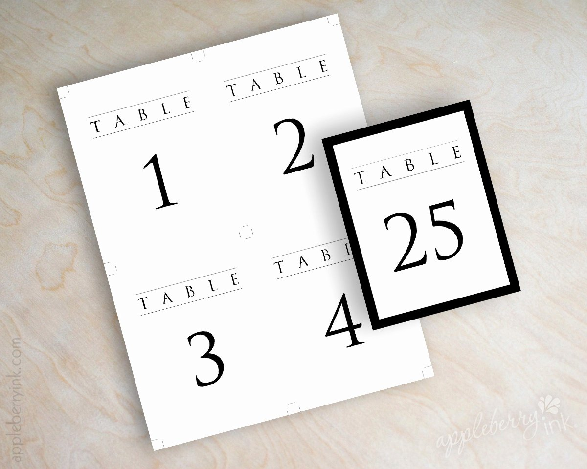 Wedding Table Number Template Lovely Instant Pdf Digital Diy Table Number Template