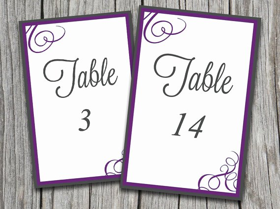 "Wedding Table Number Template New Instant Download Bordered Flourish ""amy"" Table Number"