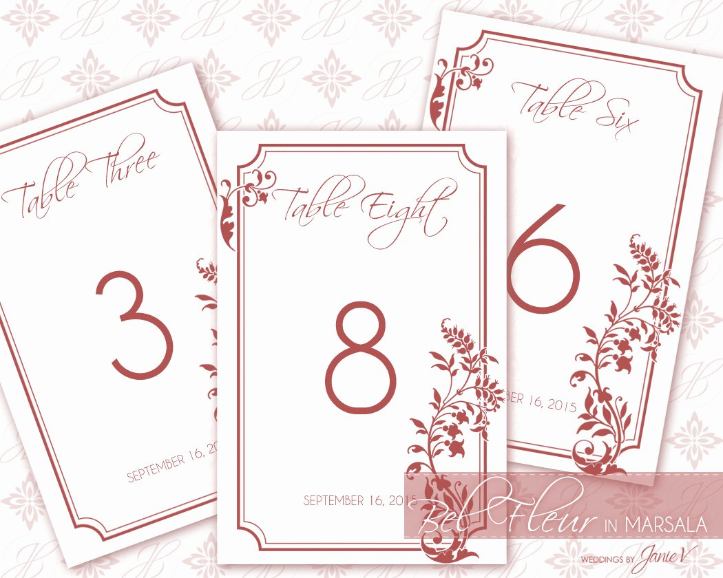 Wedding Table Number Template New Printable Table Number Wedding Template Diy Table Number