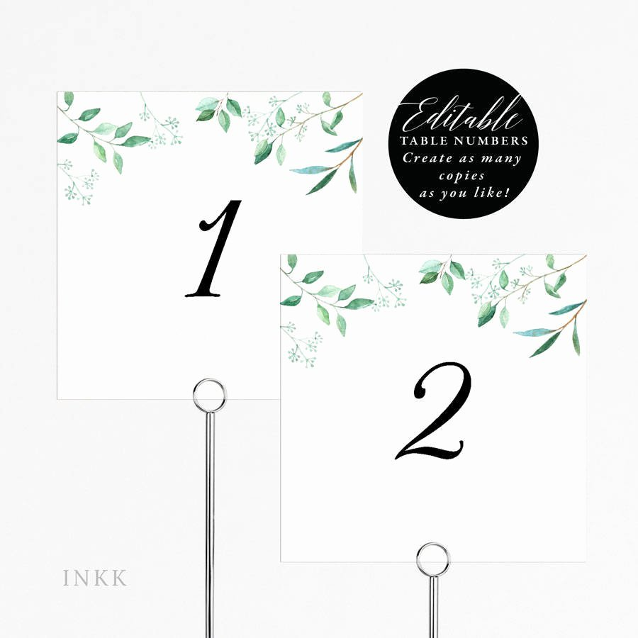 Wedding Table Number Template Unique Rustic Wedding Table Numbers Printable Table Number Template