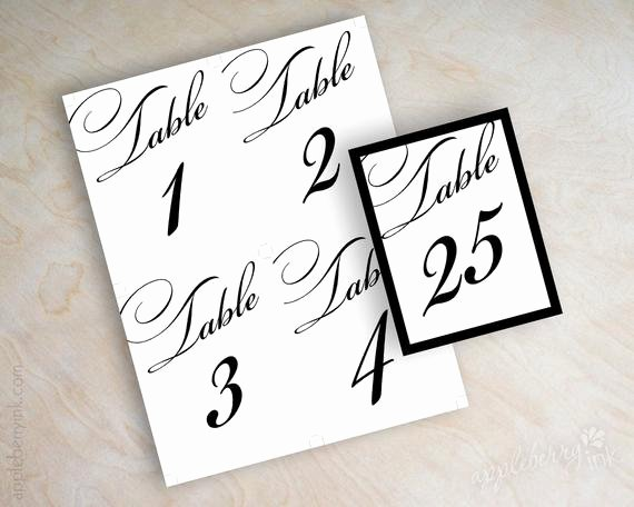 Wedding Table Numbers Template Awesome Items Similar to Instant Pdf Digital Diy Table