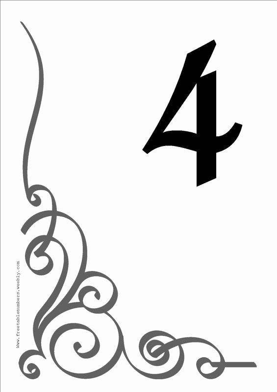 Wedding Table Numbers Template Beautiful Free Table Number Templates 4x6