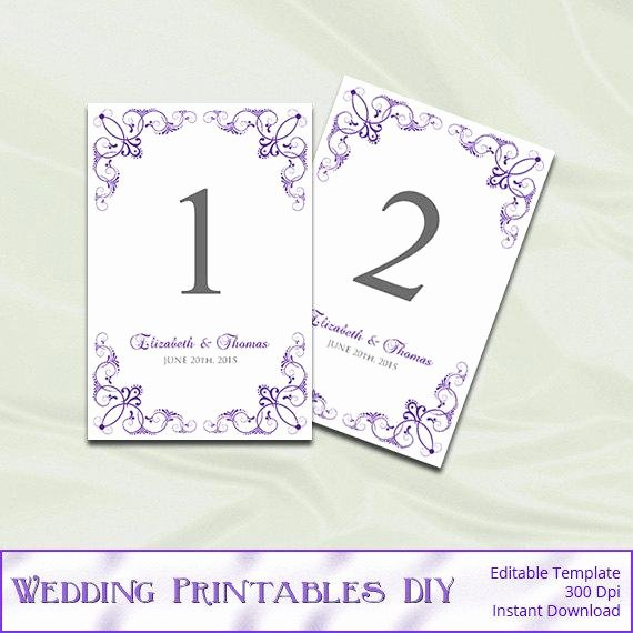 Wedding Table Numbers Template Beautiful Wedding Table Number Template Diy by Weddingprintablesdiy