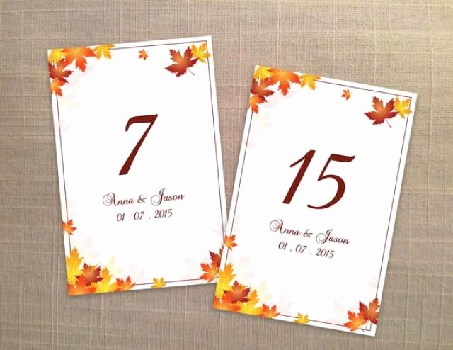Wedding Table Numbers Template Best Of Diy Printable Wedding Table Number Template