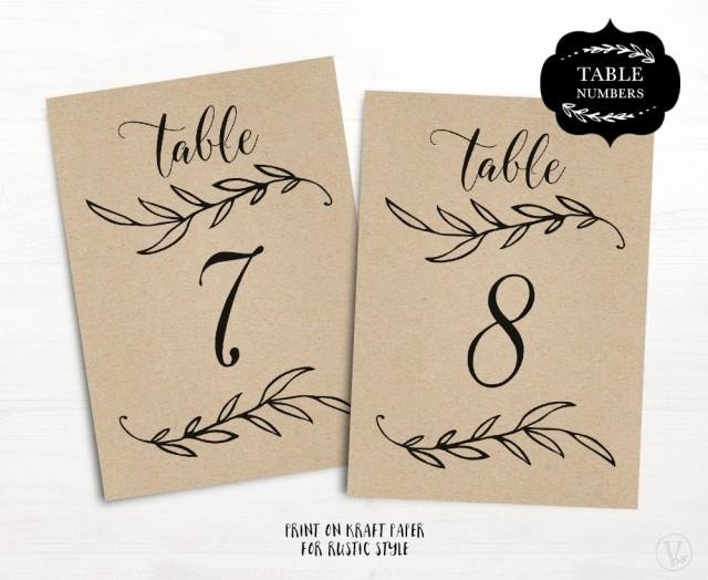 Wedding Table Numbers Template Best Of Wedding Table Numbers 1–40 Rustic Wedding Table Numbers