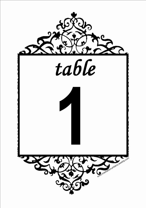 Wedding Table Numbers Template Fresh 6 Best Of Printable Table Number Templates Free