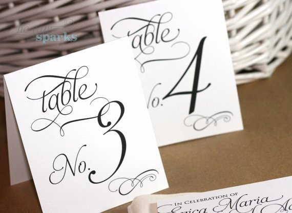 Wedding Table Numbers Template Lovely 1 20 Reception Table Numbers Printable Tent Style