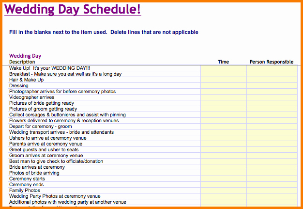 Wedding Timeline Template Free Inspirational Wedding Day Timeline Template