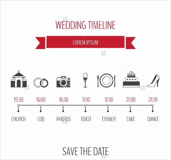 Wedding Timeline Template Free Lovely 31 Wedding Timeline Templates Psd Ai Eps Pdf Word