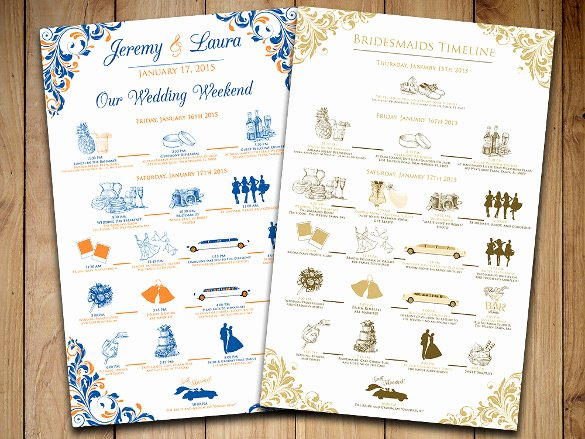 Wedding Timeline Template Free Unique 31 Wedding Timeline Templates Psd Ai Eps Pdf Word