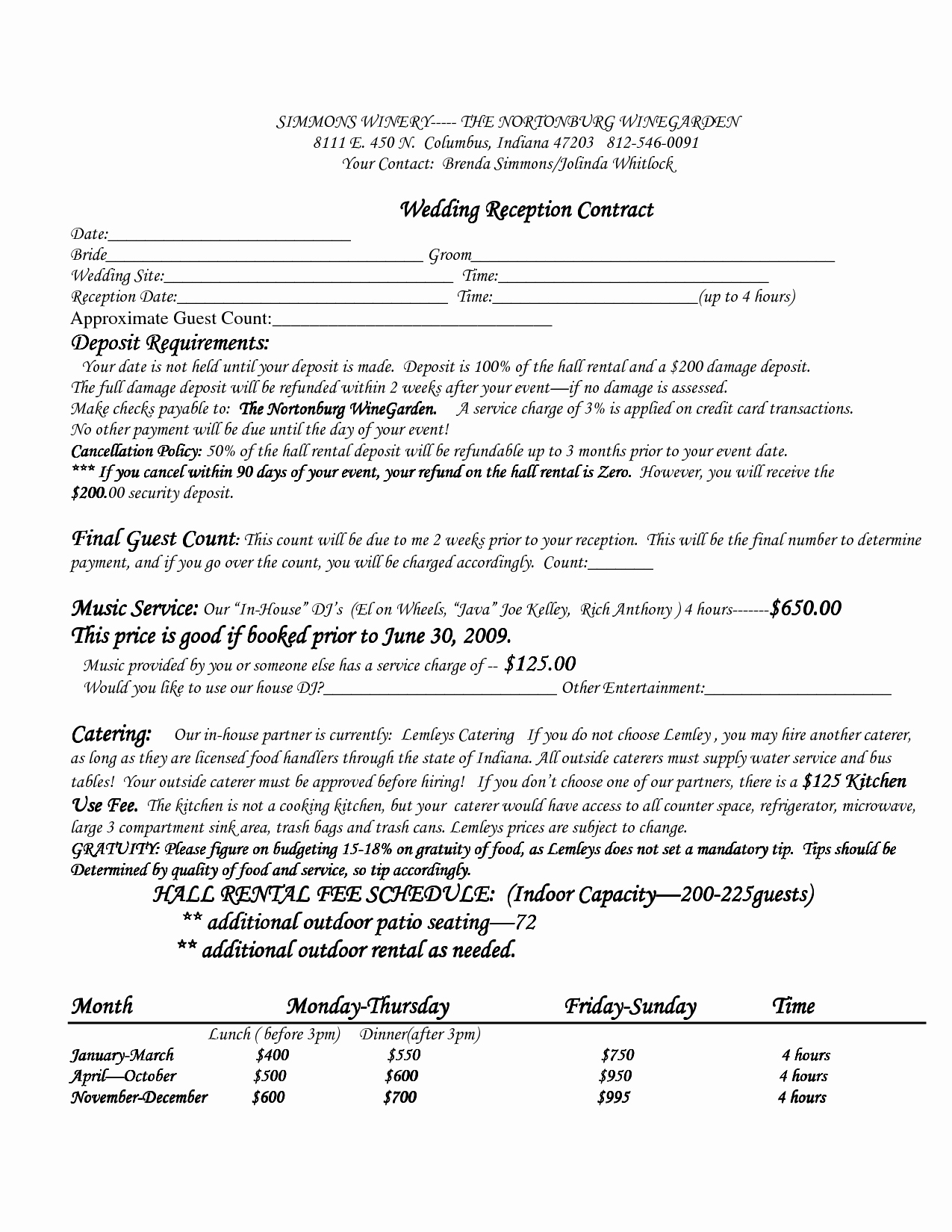 Wedding Vendor Contract Template Lovely Best S Of Venue Rental Contract Template Real