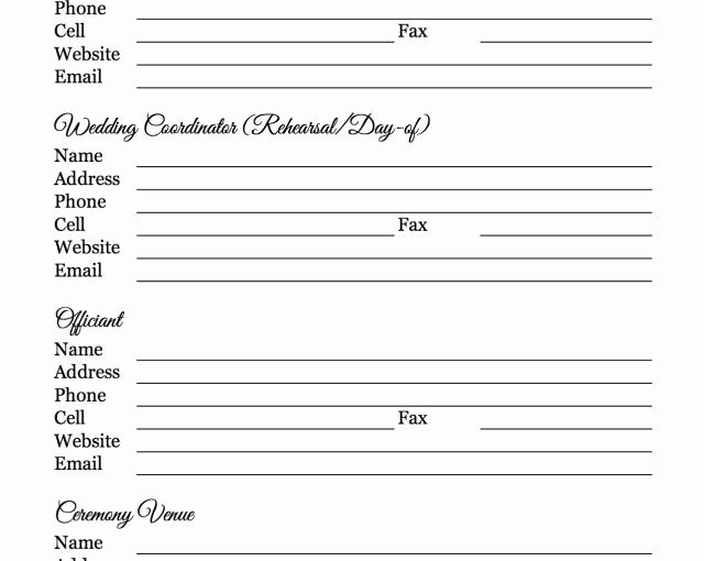 Wedding Vendors List Template Awesome Free Wedding Vendor Checklist Template – Free Template Design