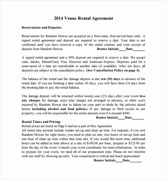 Wedding Venue Contract Template Awesome 21 Wedding Contract Samples
