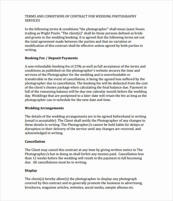 Wedding Venue Contract Template Awesome Wedding Contracts for Hair and Makeup Style Guru