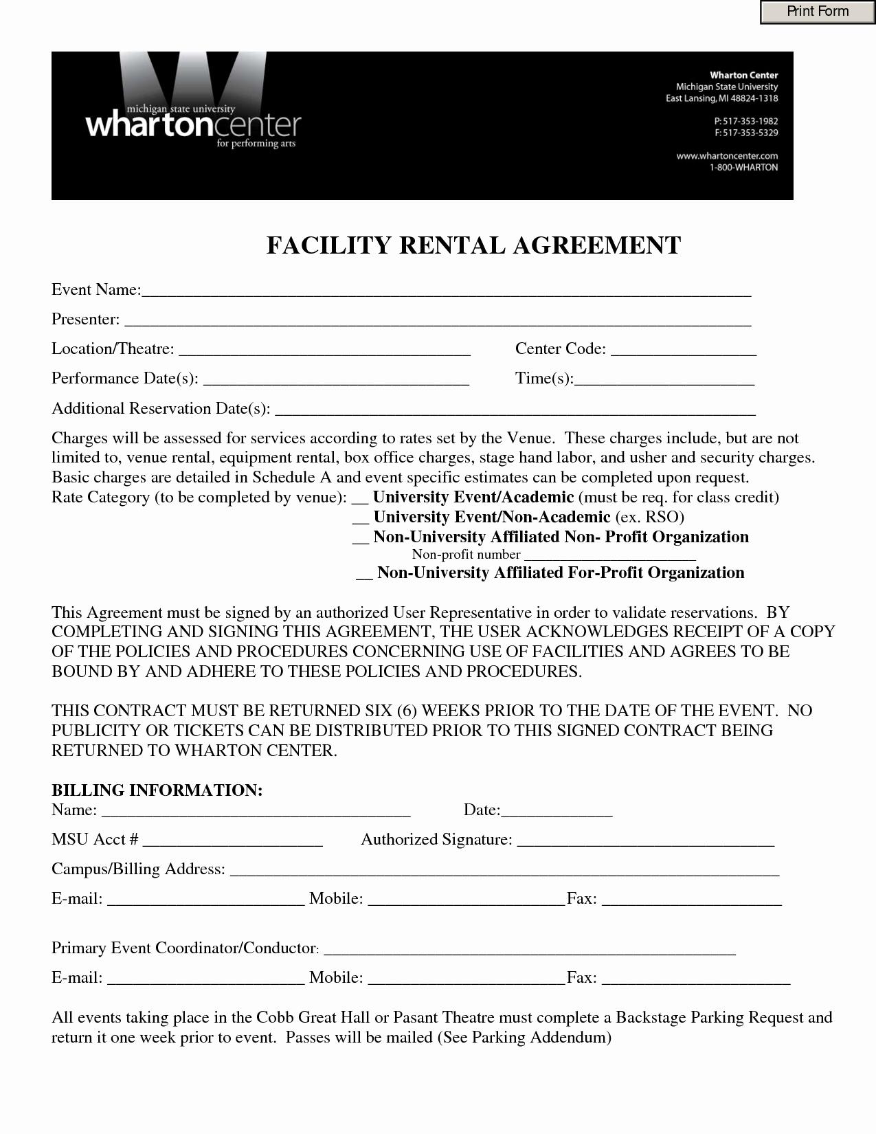 Wedding Venue Contract Template Best Of Best S Of Venue Rental Contract Template Real