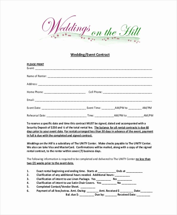 Wedding Video Contract Template Awesome 100 Banquet Contract Template event Management Contract