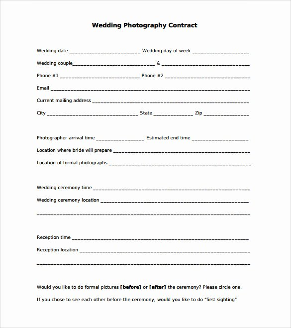 Wedding Video Contract Template Fresh 21 Wedding Contract Samples