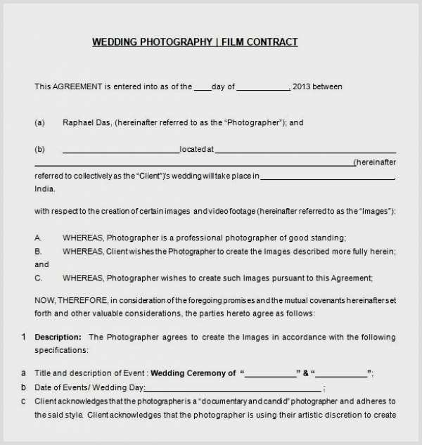 Wedding Videographer Contract Template Inspirational 94 Videographer Contract Sample Pleasant Videography