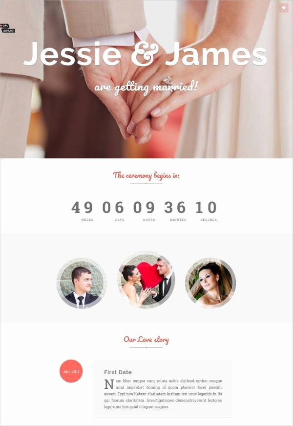 Wedding Web Template Free Awesome 37 Free Wedding Website themes & Templates
