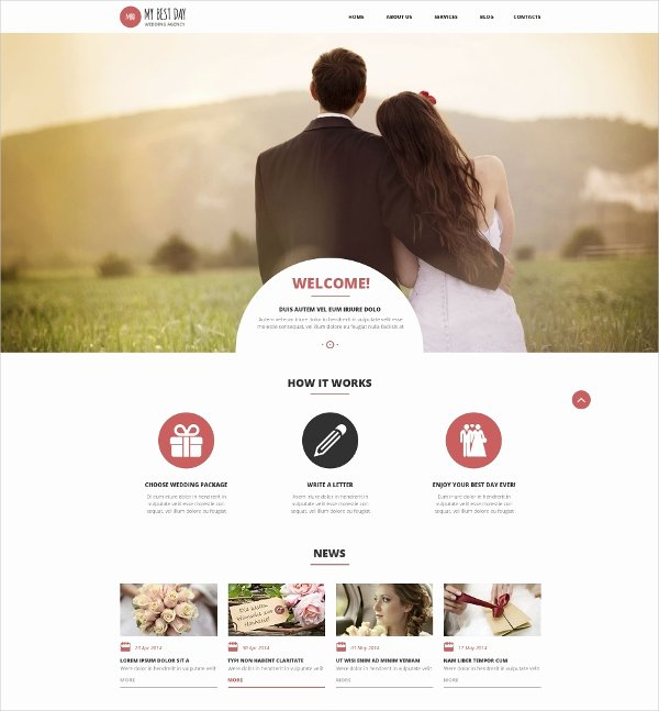 Wedding Web Template Free Elegant 19 Wedding Website themes & Templates
