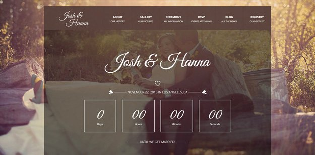 Wedding Web Template Free Elegant 20 HTML Wedding Website Templates