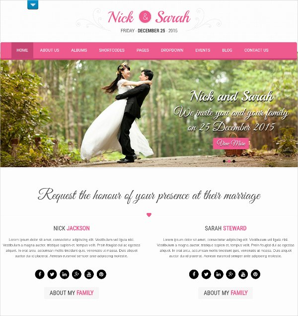 Wedding Web Template Free Elegant Wedding Website Templates Popteenus