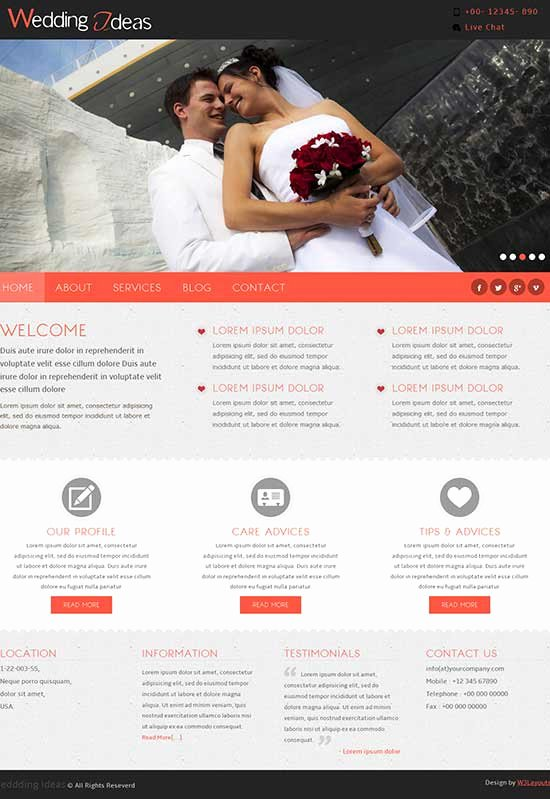 Wedding Web Template Free Fresh 70 Best Wedding Website Templates Free & Premium