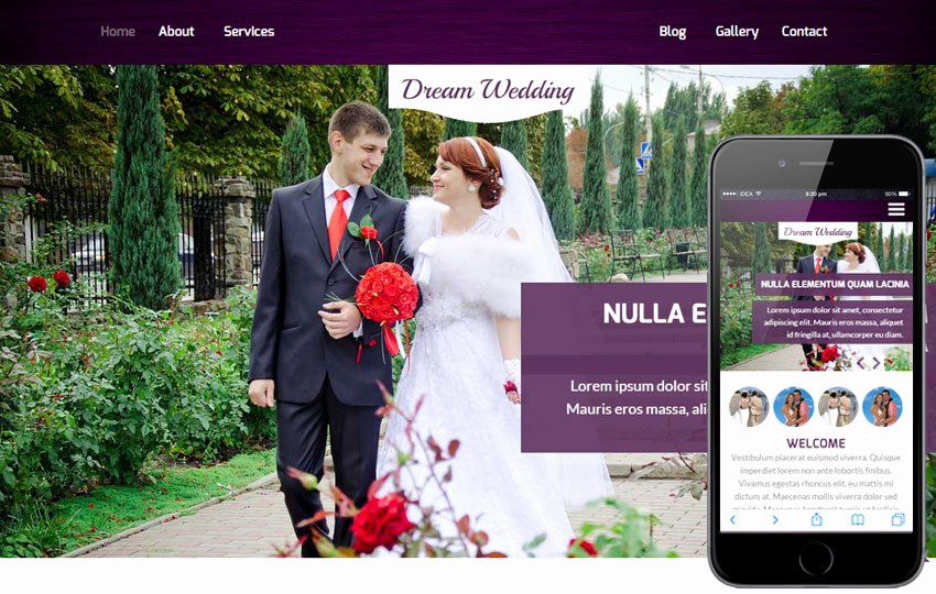 marriage portal website templates free