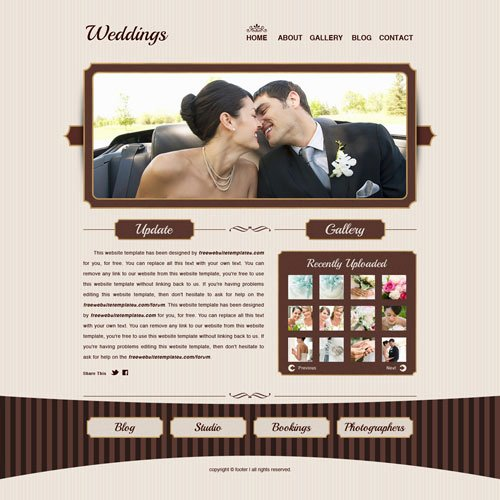 Wedding Web Template Free Fresh Weddings Website Template