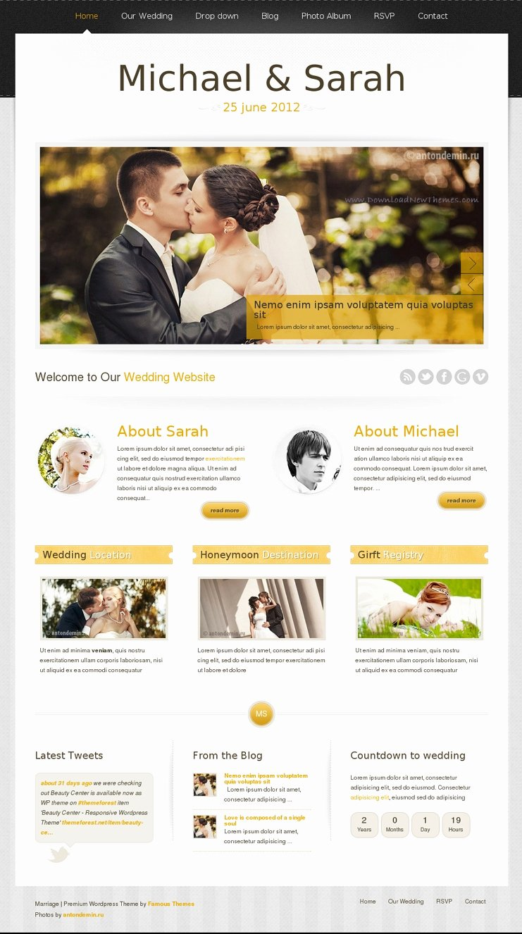 Wedding Web Template Free Inspirational Wedding Website Templates
