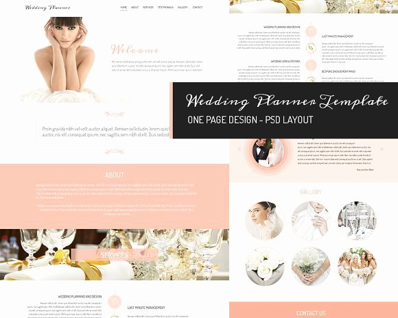 Wedding Web Template Free Lovely E Page Design Wedding Planner Website Templates