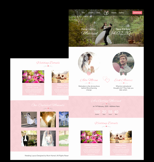Wedding Web Template Free Lovely Wedding Website Template