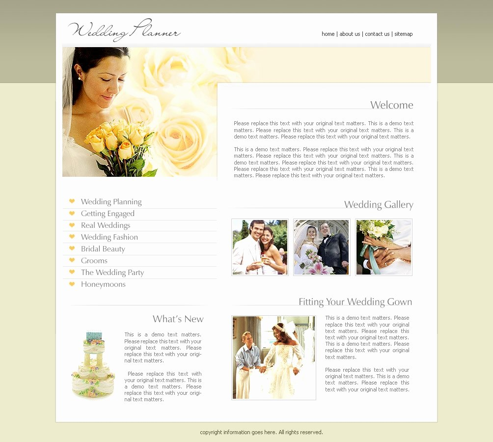 Wedding Web Template Free Lovely Wedding Website Templates