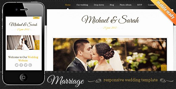 Wedding Website Template Free Awesome 7 Elegant HTML Wedding Website Templates