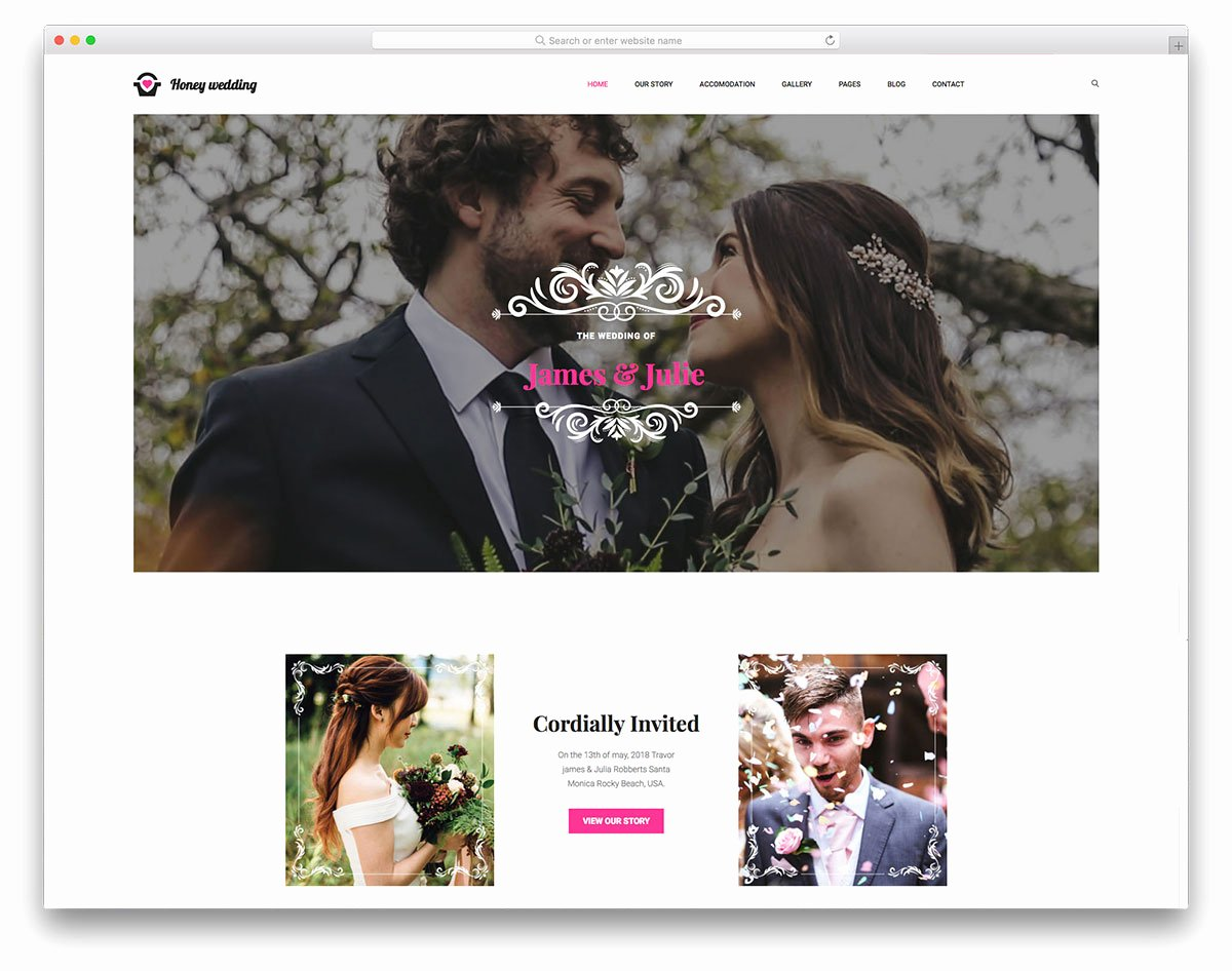 Wedding Website Template Free Awesome Most Popular Free Wedding Website Templates 2019 Colorlib
