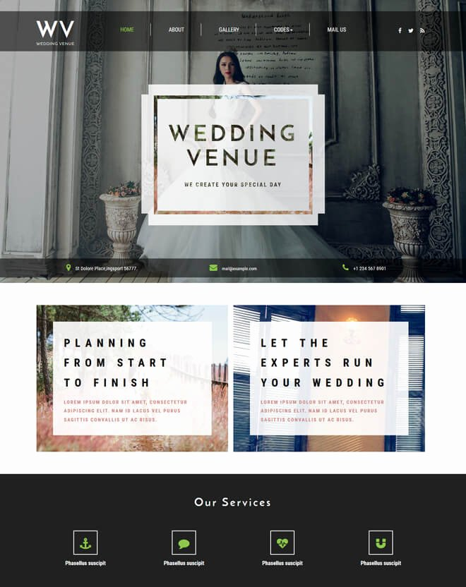Wedding Website Template Free Elegant Free event Bootstrap Template List Of Best Quality HTML5