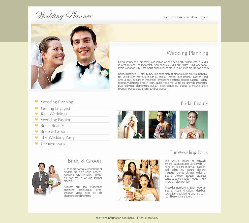 Wedding Website Template Free Elegant Wedding Website Templates