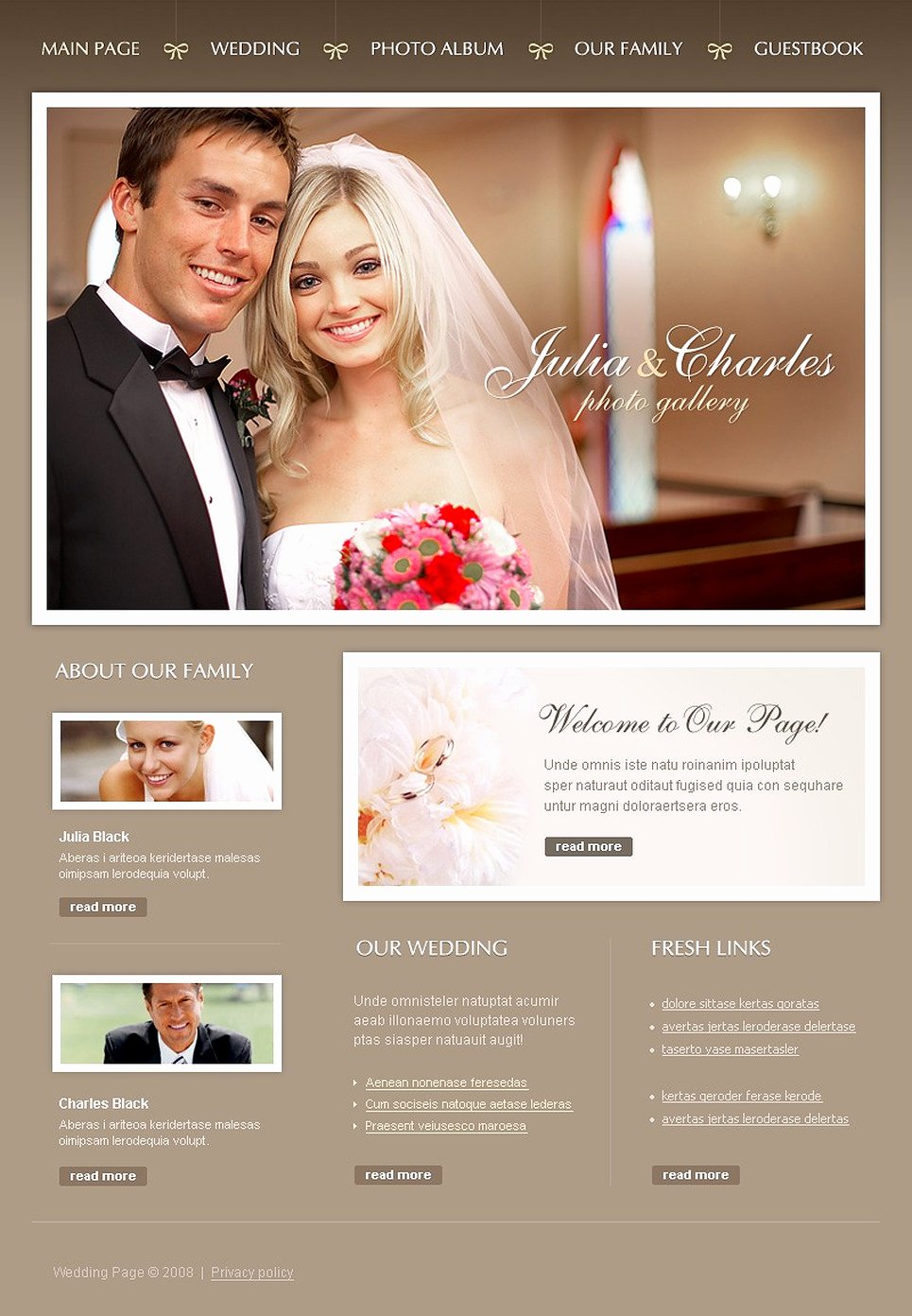 Wedding Website Template Free Fresh Wedding Album Website Template