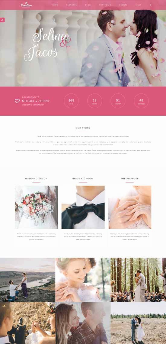 Wedding Website Template Free Lovely 70 Best Wedding Website Templates Free & Premium