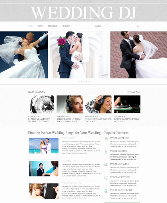 Wedding Website Template Free Luxury 43 Dj Website themes & Templates