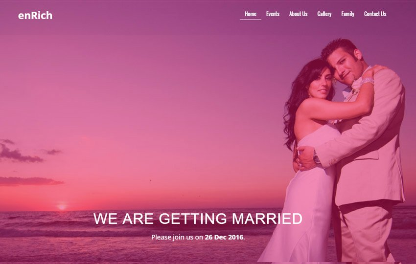 Wedding Website Template Free Unique Free Wedding Website Template by the Webthemez