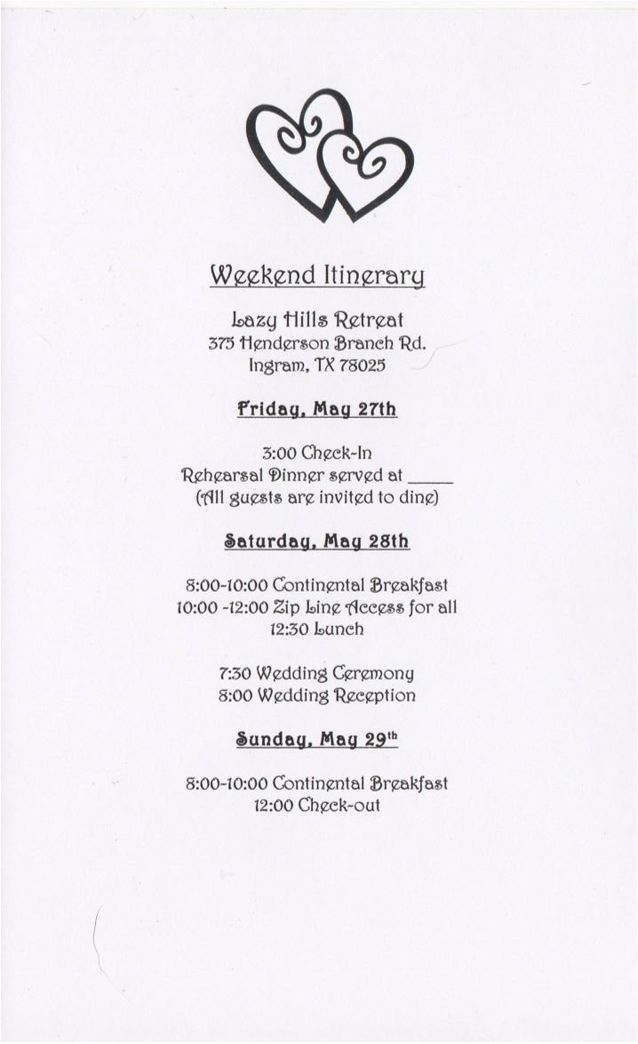Wedding Weekend Itinerary Template Awesome 17 Best Ideas About Wedding Weekend Itinerary On Pinterest